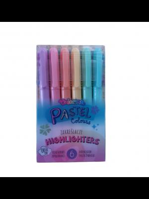 Colorino Pastel sada zvýrazňovačov 6 farieb